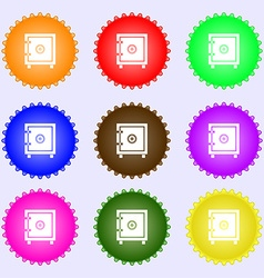 Safe money icon sign big set of colorful diverse vector