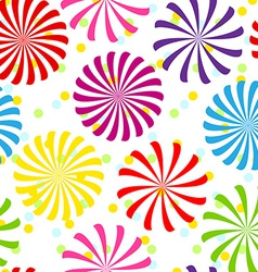 Seamless colorful spiral pattern vector image vector image