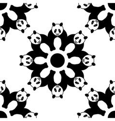 seamless panda pattern vector image vector image