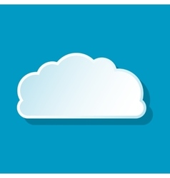 Small cloud icon vector image