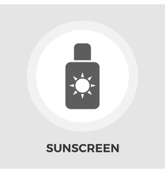 Sunscreen flat icon vector image
