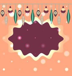 template for christmas and new year card vector image vector image