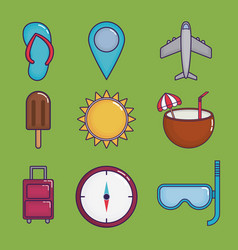 travel time design vector image