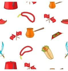 Turkey pattern cartoon style vector