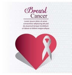 Ribbon breast cancer design vector
