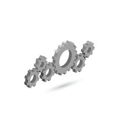 Isometric gear mechanism settings icon vector