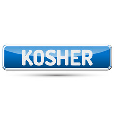 Kosher - abstract beautiful button with text vector