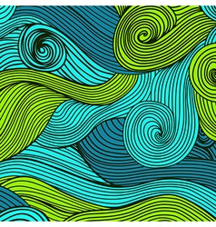 Abstract hand-drawn waves texture wavy background vector