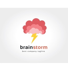 Abstract brain logo icon concept logotype template vector