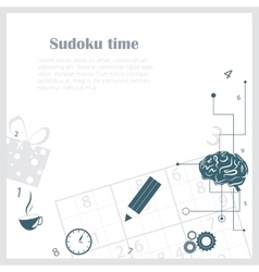 Sudoku background vector