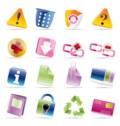 Web site and computer icons vector