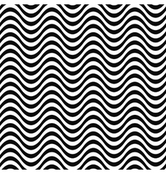 Repeating monochrome 3d wave line pattern vector