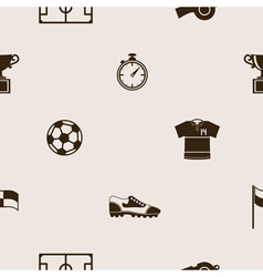 Seamless pattern with soccer icons vector