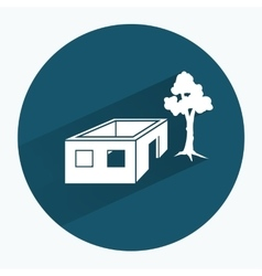 House icon unfinished building without roof vector