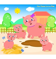 The three little pigs 1 vector image