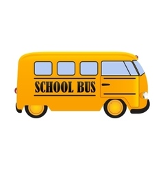School bus icon isolated on white background vector