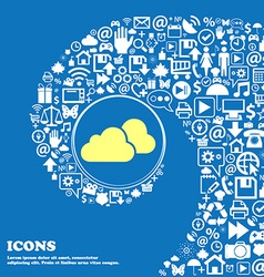 Clouds icon nice set of beautiful icons twisted vector