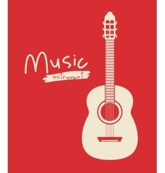 Guitar instrument isolated icon design vector