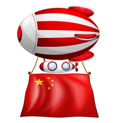 A balloon with the Chinese flag vector image vector image