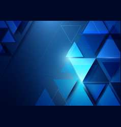 abstract geometric shape and technology background vector image