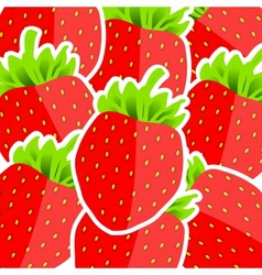 Background from strawberries vector image vector image