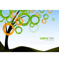 background with abstract tree vector image