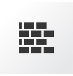 brickwork icon symbol premium quality isolated vector image