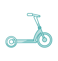 Bycicle flat shadow vector