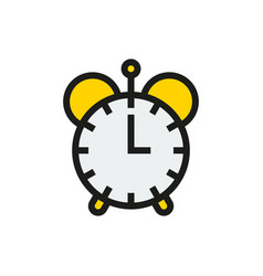 Clock icon on white background vector