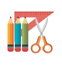 collection elements school design isolated vector image