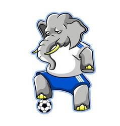 Elephant soccer vector