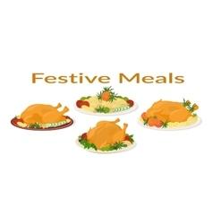 Festive Meals Set vector image vector image