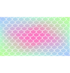 Fish scale and mermaid background vector