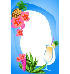 fruit cocktails vector image vector image