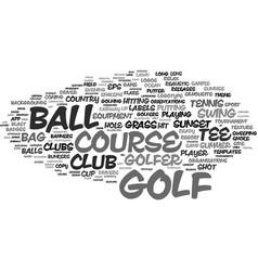 Golf word cloud concept vector
