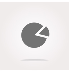 Graph Icon on Round Button isolated on vector image
