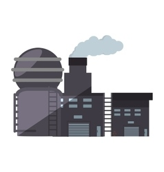 Industry manufactory plant building shadow vector