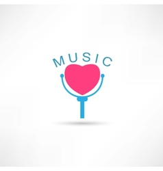 Love microphone icon vector