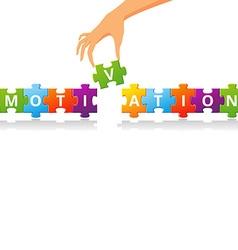 MotivationPuzzle vector image
