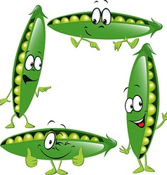 Pea - funny cartoon vector