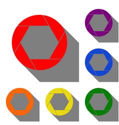 photo sign set of red orange vector image
