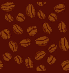 Seamless pattern of arabica coffee beans vector
