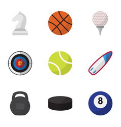 set of 9 editable fitness flat icons includes vector image