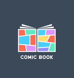simple colored linear comic book logo vector image vector image