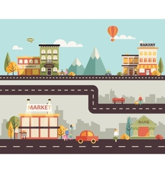Small town vector