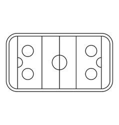 Stadium icon outline style vector