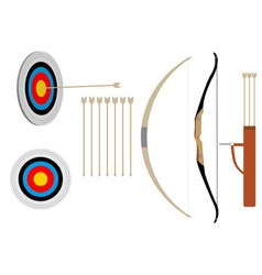 two bows and arrows vector image