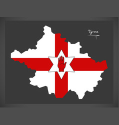 tyrone northern ireland map with ulster banner vector image vector image