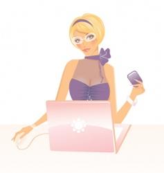 working girl vector image