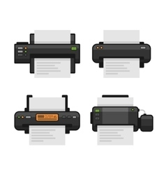 Printer icon set flat style vector